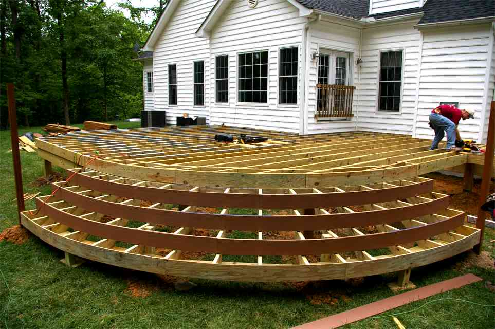 How much does a deck really cost tbg milwaukee area for Circular garden decking