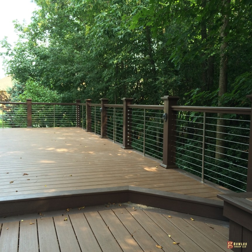 azek deck with stainless steel handrails