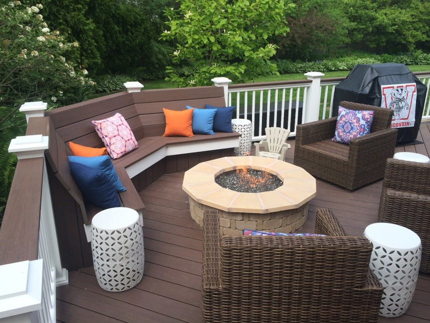 Whitefish Bay Deck with bench